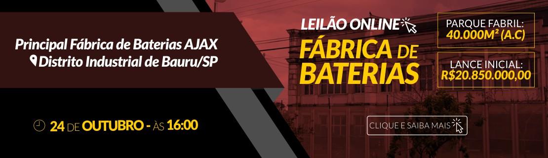 Leilão Ajax Baterias
